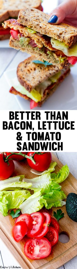 Vegan BLT (Better than Bacon, Lettuce and Tomato Sandwich)