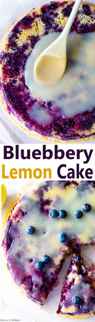 vegan lemon blueberry cake