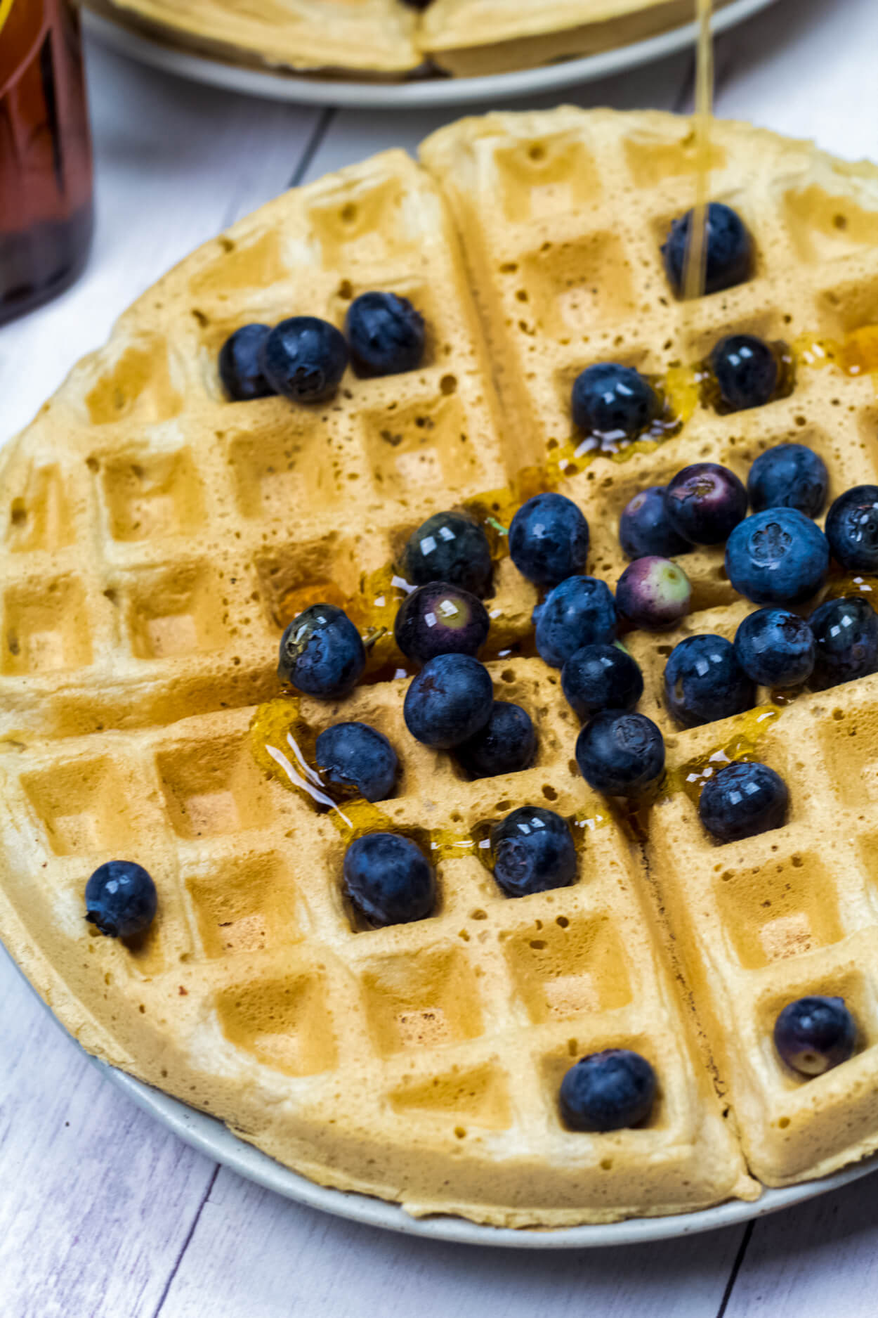 whole wheat oatmeal waffles
